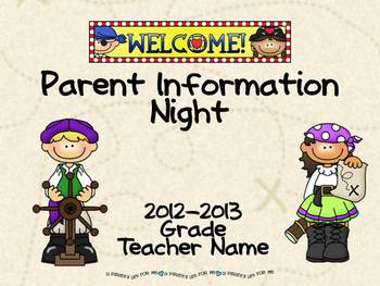 Pirates teaching resources teachers pay teachers parent information night power point template pirate theme toneelgroepblik Images