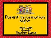 Parent Information Night Power Point Template - Western Theme