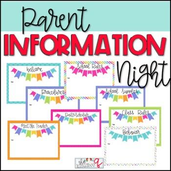 Parent Information Night/Open House PowerPoint Presentation (EDITABLE)