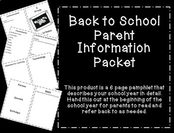 Parent Information Pamphlet