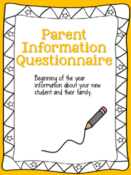 Parent Information Questionnaire