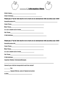 Parent Information Sheet
