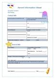 Parent Information Sheet Under The sea