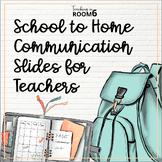 Parent Information Slides for Distance Learning