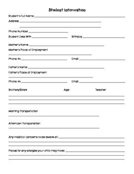 Parent Information Survey