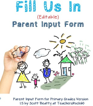 Parent Input Form Primary, Parent Feedback Forms, Back to School Forms