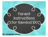 Parent Instructions for Remind