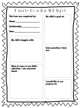 Parent Intake form- Special Education