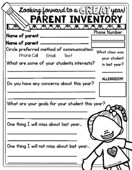 Parent Inventory Open House