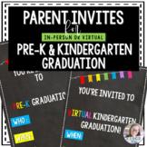 Pre-K & Kindergarten Graduation Invitation