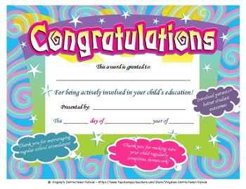 Parent Involvement Award