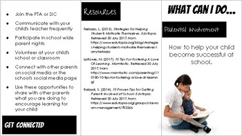 Parent Involvement Brochure