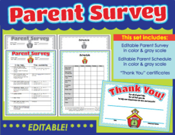 Parent Involvement Survey and Certificate