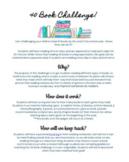 Parent Letter-40 Book Challenge *Editable*