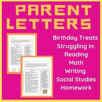 Parent Letter BUNDLE: Struggling in Reading, Math, Writing, & More (Grades 3-6)
