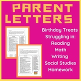 Parent Letter BUNDLE: Struggling in Reading, Math, Writing