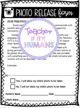 Permission Parent Letter For Instagram (EDITABLE)
