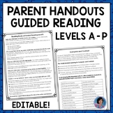 Guided Reading Level K Parent Letter {Ideal Handout for Parent Conferences}