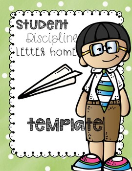 parent letter home template by teal monster teachers pay teachers