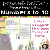 Parent Letter ~ Practice Numbers to 10