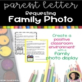 Parent Letter Requesting Family Photo