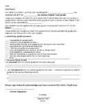 Parent Letter-Student Grade Report
