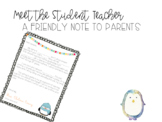 Parent Letter- Student Teaching Edition