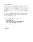 Parent Letter Take home book Second Grade