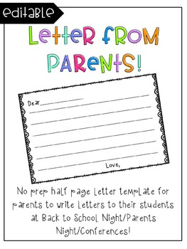 Parent Letter Template Teaching Resources Teachers Pay Teachers - Parent letter template
