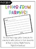 Parent Letter Template