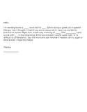Parent Letter for Artic Homework