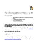 Parent Letter for Howard B. Wigglebottom Bully Lesson