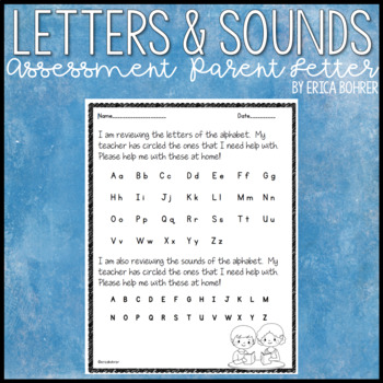 Letters and Sounds Assessment Parent Letter