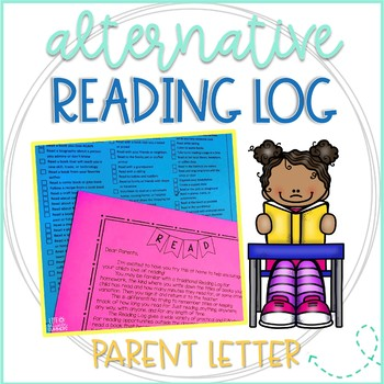 Parent Letter for an Alternative to Reading Logs