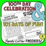 Parent Letters - 100th and 101st Day of School