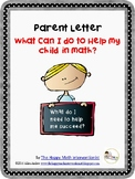 "Parent Letters K-5 for ""How do I help my student in math?"""