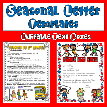 Parent Letters Seasonal