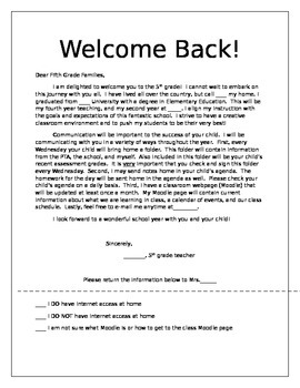 Parent Letters Welcome Winter Break Thank You End Of Year Tpt
