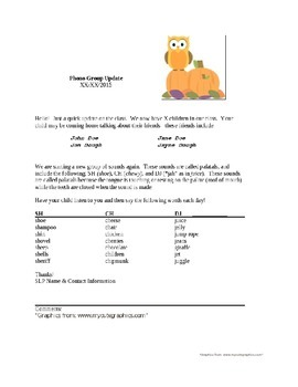 Parent Letters for Phono Group