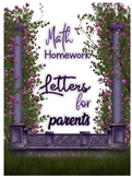Parent Letters to send home- Great for homework- No Prep r