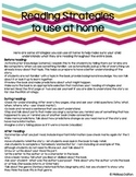 Parent Literacy Handout - Reading Strategies for Before, During, and After