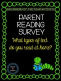 Parent Reading Interview for the BEGINNING of the SCHOOL YEAR