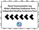 Parent Log, Writer's Workshop Conferences, Independent Rea