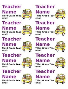 Parent Magnets for Meet the Teacher