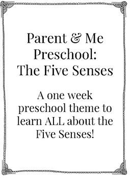 Parent & Me Preschool: The Five Senses FREEBIE