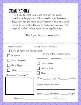 Parent Meeting Request Letter