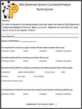 Parent Needs Assessment - Elementary School