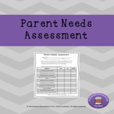 Parent Needs Assessment for School Counselors