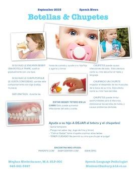 BILINGUAL Parent Newsletter - Bottles & Pacifiers