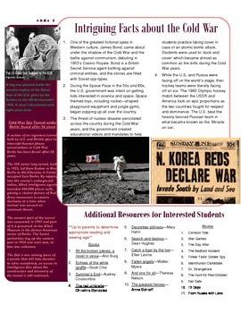 Parent Newsletter - Cold War